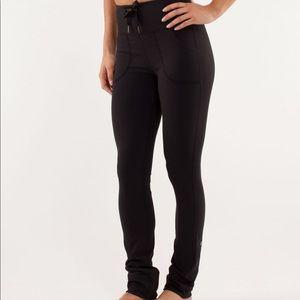 NWT Lululemon Skinny Will pants black pockets 12